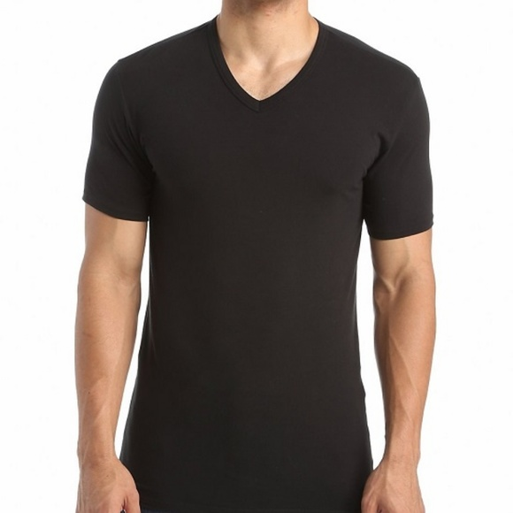 46d533986 Calvin Klein NB1179 V-Neck T-Shirt BLACK M M  07